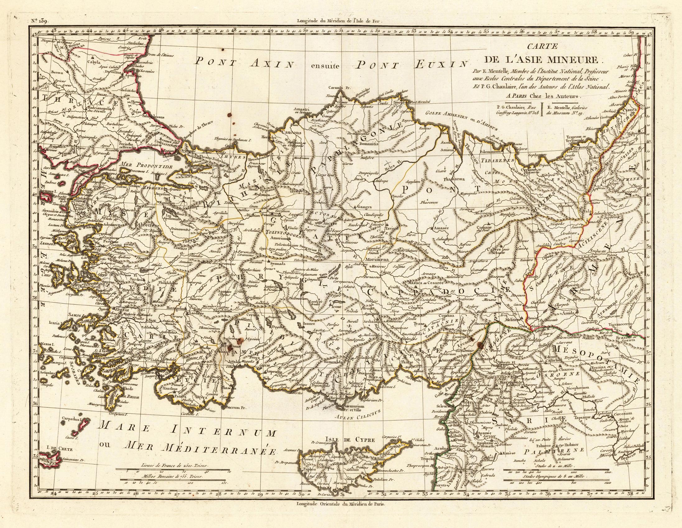 Carte Asie Mineur.Carte De L Asie Mineure Par E Mentelle