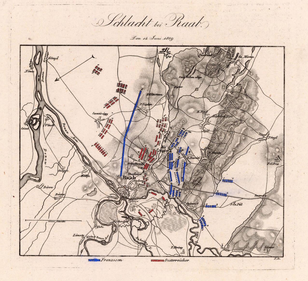 Schlacht bei Raab: Den 14. Juni 1809: Woerl, J. E.