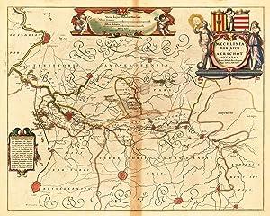 Mechlinia Dominium. et Aerschot Ducatus - Auctore: Blaeu, Joan &
