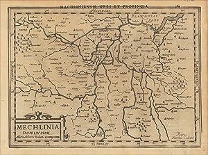 Mechlinia Dominium. Machliniensis urbs et Provincia: Mercator, Gerard