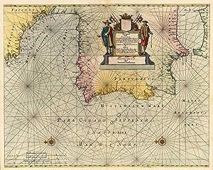 Pascaart vande Custen Van Andaluzia, Portugal, Gallißien,: Jansonnius, Joan.
