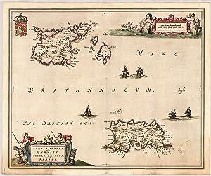 Sarnia Insula, vulgo Garnsey: Insula Caesarea, Vernacule: Blaeu, Joan