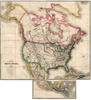 Map of North America Exhibiting The recent: Wyld, James