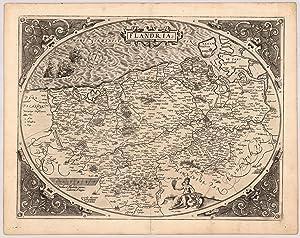 Flandria. Gerardus Mercator Rupelmundanus Describebat.: Ortelius, Abraham