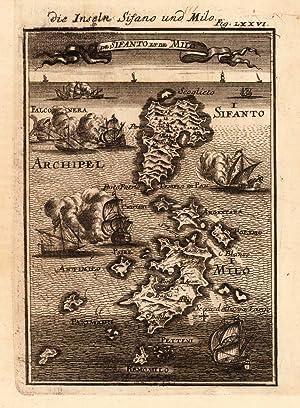 Die Inseln Sifano und Milo - I. de Sifanto et de Milo.: Mallet, Allain Manesson