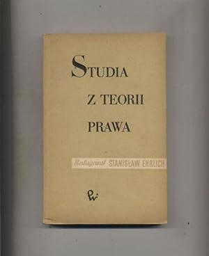 Studia z teorii prawa: Ehrlich Stanislaw red.