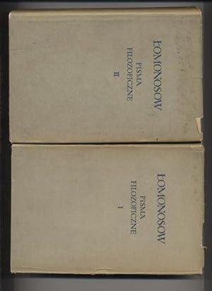 Pisma filozoficzne T.1-2: Lomonosow Michal