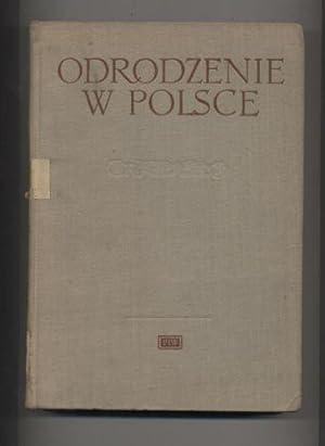 Odrodzenie w Polsce T.V Historia sztuki: Piwocki Ksawery red.