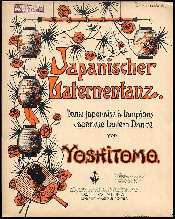 Japanischer   Laternentanz. (Aufzug   Valse   Abzug)/Tytul Okladkowy:  Japanischer Laternentanz. Danse Japonaise à Lampions. Japanese Lantern  Dance.