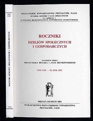 Roczniki Dziejow Spolecznych i Gospodarczych. T.62 za