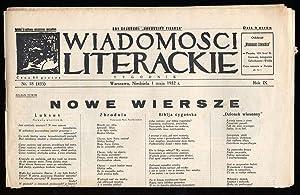 Wiadomosci Literackie. Tygodnik. R.9 (1932). Nr 18 (435) (1 maja 1932).