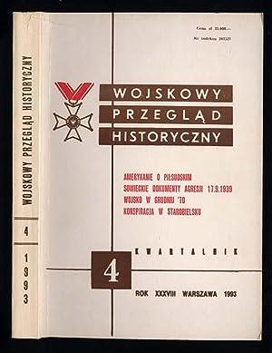 Wojskowy Przeglad Historyczny. R.38 (X-XII 1993) nr