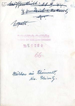 Mädchen aus Schönwald, Krs. Gleiwitz.