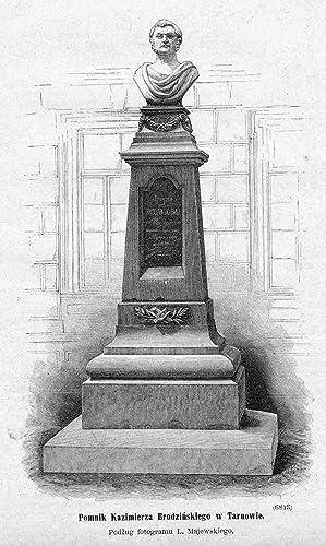 Pomnik Kazimierza Brodzinskiego w Tarnowie. Podlug fotogramu: Aleksander Malinowski wg