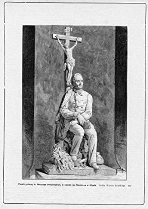 Pomnik grobowy hr. Maurycego Poniatowskiego, w kosciele: Konstanty Przykorski wg