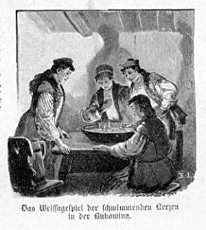 Das Weissagespiel der schwimmenden Kerzen in der: Wg E. Limmer