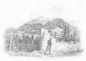Ruines du Château de Lanckorona dans l'ancien: Auguste François Alés