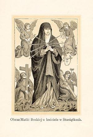 Obraz Matki Boskiej w kosciele w Staniatkach.