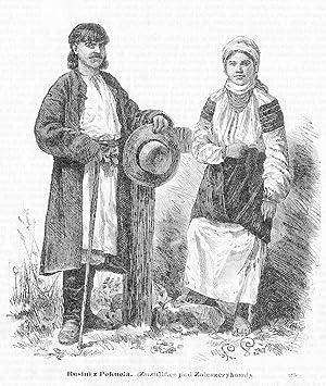 Rusini z Pokucia. (Zuzulince pod Zaleszczykami). 375: Wg Ksawerego Pillatiego