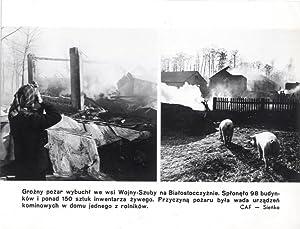 Grozny pozar wybuchl we wsi Wojny-Szuby na Bialostocczyznie. [.] CAF - Sienko: Roman Sienko