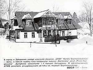 6 marca w Zakopanem nastapi uroczyste otwarcie: Maciej Sochor