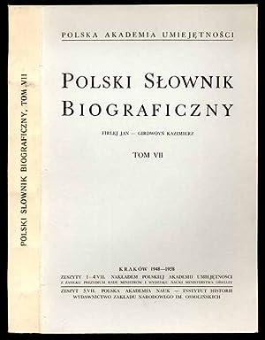Polski slownik biograficzny. T.7, Firlej Jan -