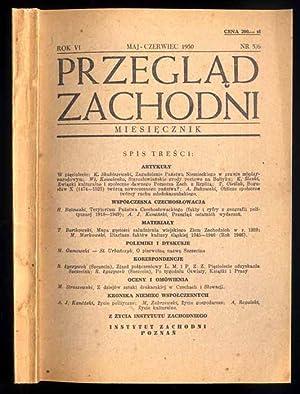 Przeglad Zachodni. Miesiecznik. R.6 (1950). Nr 5/6
