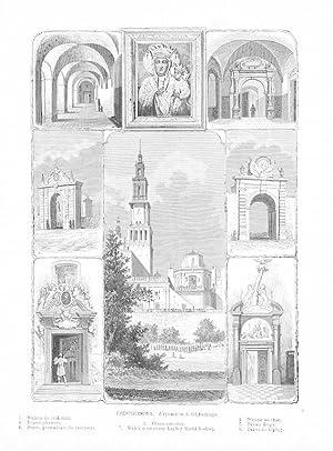 CZESTOCHOWA. Z rysunkow A. Glebockiego. 1. Wejscie: B. Brochocki wg