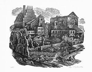 1950 [Widok na Stare Miasto w odbudowie]: Zofia Elzbieta Fijalkowska