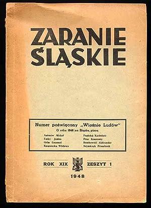 Zaranie Slaskie. R.19 (1948). Nr 1 (I-III