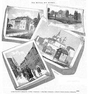 1) Palac Radziwillow w Berdyczowie. 2) Palac: Jan Krajewski wg