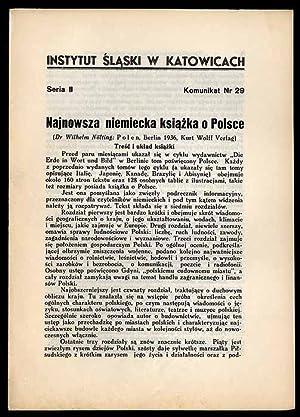 Najnowsza niemiecka ksiazka o Polsce (Dr Wilhelm: Wrzosek Antoni: