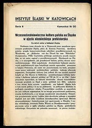 Wczesnosredniowieczna kultura polska na Slasku w ujeciu: Kostrzewski Jozef: