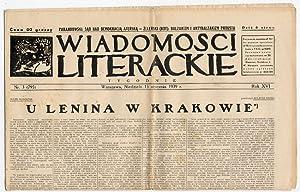 Wiadomosci Literackie. Tygodnik. R.16 (1939). Nr 3