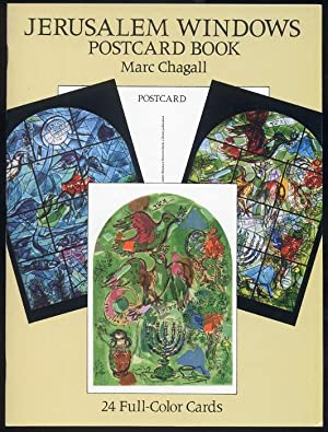 Jerusalem Windows Postcard Book. Marc Chagall Postcard.