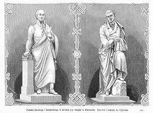 Pomniki Czackiego i Brodzinskiego w kosciele p.p.: Jozef Loskoczynski wg