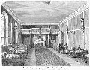 Sala dla chorych wewnetrznie w zakladzie leczniczym: Julian Schübeler