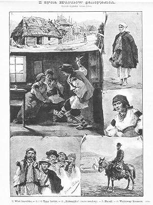 Z zycia Huculow galicyjskich. Rysunek oryginalny Juliusza: Wg Juliusza Zubera