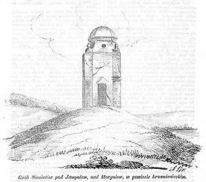 Grob Sieniutow pod Jampolem, nad Horyniem, w