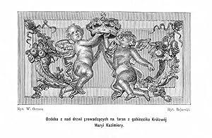 Ozdoba z nad drzwi prowadzacych na taras: Wladyslaw Bojarski wg