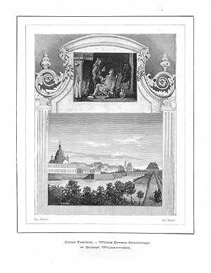 Obraz Teniersa. - Widok Drezna Canalettego w: St. Slaski wg