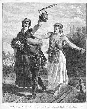 Pomorzanin, pojmany przez Mazurki, kopia obrazu Gersona,: Jozef Loskoczynski wg