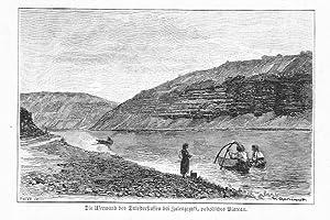 Die Uferwand des Dniesterflusses bei Zaleszczyki, podolisches: Carl Tinter wg