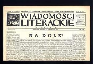 Wiadomosci Literackie. Tygodnik. R.14 (1937). Nr 44
