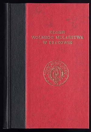 Dzieje wolnego mularstwa w Krakowie 1755-1822.: Malachowski-Lempicki Stanislaw: