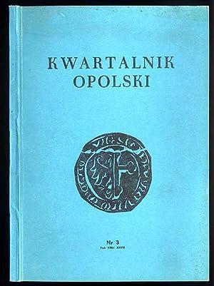 Kwartalnik Opolski. R.27 (1981). Nr 3 (106).
