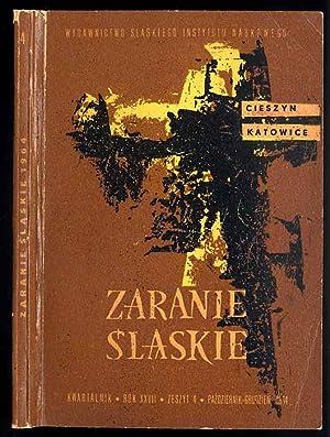Zaranie Slaskie. Kwartalnik. R.27 (1964). Z.4 (X-XII 1964).