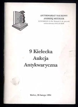 Antykwariat Naukowy Andrzej Metzger] 9 Kielecka Aukcja