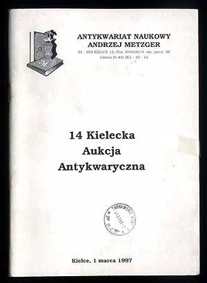 Antykwariat Naukowy Andrzej Metzger] 14 Kielecka Aukcja