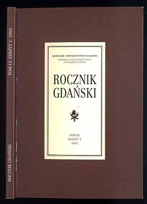 Rocznik Gdanski. T.55. Z.1 (1995).